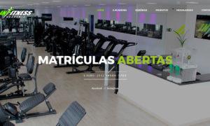 Criação de site para Academia